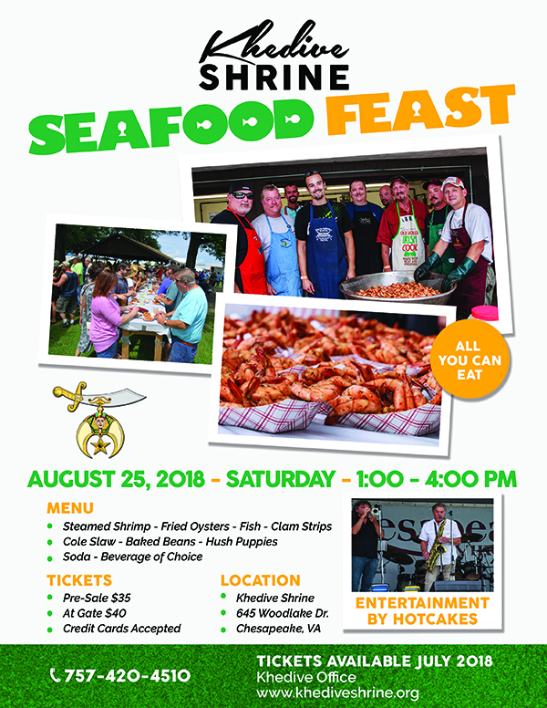 Khedive Seafood Feast Khedive Shriners
